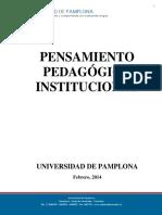 pensamiento pedagógico institucional