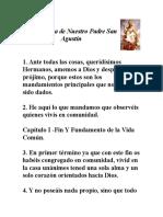 Santa Regla de Nuestro Padre San Agustín