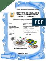 Ensayo de La Carta Ineramericana de Los DD.hh