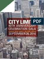 City Limits 40th Anniversary Gala Journal