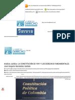 Análisis Jurídico_ La Constitución de 1991 y Los Derechos Fundamentales