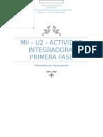 Mii - u2 - Actividad Integradora. Primera Fase