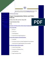 Organ Transplantation in USA