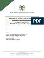Rapport d Etude Electronarcose