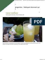 La Boisson Poire-gingembre _ Nettoyant Étonnant Qui Élimine Les Toxines - Santé Nutrition