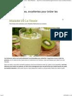 Les Boissons Vertes, Excellentes Pour Brûler Les Graisses - Santé Nutrition