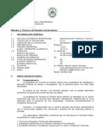 SILABO METODOS Y TECNICAS DE ESTUDIOS UNIVERSITARIOS.doc