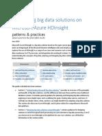 Developing Big Data Solutions on Microsoft Azure HDInsight