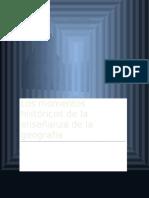 Los Momentos Históricos de La Enseñanza de La Geografía