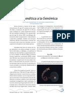 De La Genetica a La Genomica