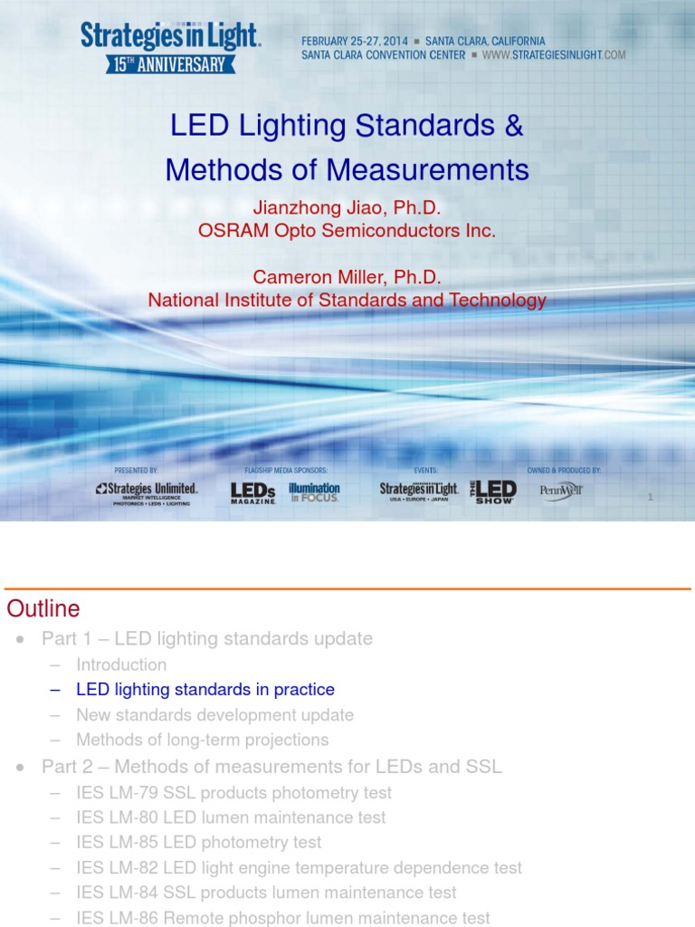 LED Standards and Methods of Measurements | Light Emitting Diode | Lighting  sc 1 st  Scribd : ies lighting standards - www.canuckmediamonitor.org