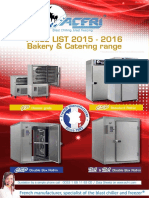 PRICE LIST 2015 2016 Bakery Catering Range