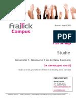 Persmap Studie Generaties FRAJLICK