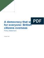 Overseas Electors Policy Statement