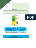 Presupuesto Gomez Plata Sept 2016