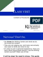 Class Visit info (10/7/2016)