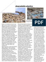 Biodegradable Plastics Article