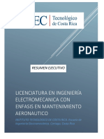 Resumen Ejecutivo Ing Electrmec Enfasis Mante AeronauticoTEC