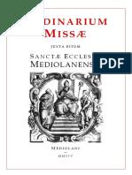 Ordo Missae Ambrosianum 1954