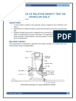 Performance of Relative Density Test on Granular Soils