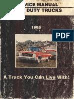 X8632 1986 GMC Light Duty Truck CK G P 10 to 30 Service Manual(1)