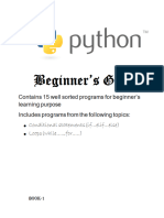 Beginner's guide to python