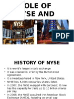 Role of NYSE and NASDAQ