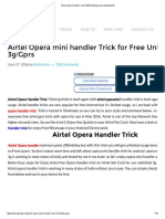 Airtel Opera Handler Trick 100% Working Guaranteed 2016