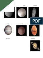 Tarea de planetas
