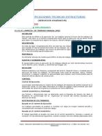 Especificaciones Tecnicas. Estructuras Ss Hh.