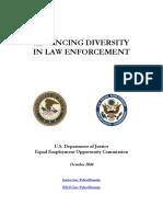 DOJ Report - Advancing Diversity in Law Enforcement