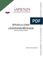 Appunti Del Corso Di Costruzioni Metalliche (Sciarretta, M. 2015)