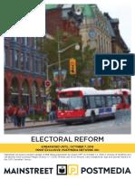Mainstreet - Electoral Reform Ottawa