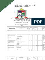 Tupa 2016 Municipalidad Distrital San Jose Octubre