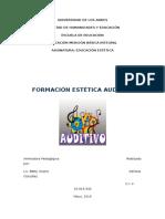 Trabajo de Formación Estética Auditiva