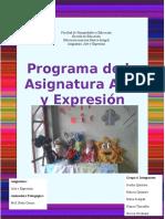 Programa de La Asignatura de Arte y Expresión