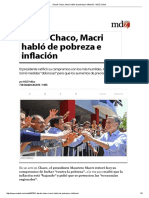 Desde Chaco, Macri Habló de Pobreza e Inflación - MDZ Online