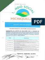 BASES CONCURSO PRIVADO 03-2016-AFSM-Primera Convocatoria Contratación de Servicio de Cosnultoría Para Programa de Inversión