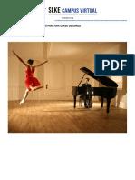 Técnicas de Acompañamiento Para Una Clase de Danza (7 Créditos ETCS)