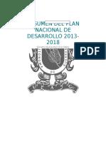 Plan Nacional de Desarrollo Resumen