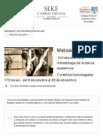Método Vagánova - Metodología de La Danza Académica (7 Créditos ECTS)
