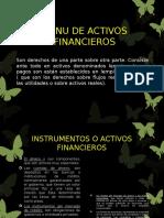 Menu de Activos Financieros