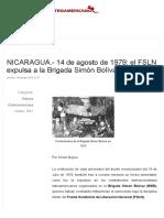 Expulsion de La Brigada Simon Bolivar