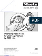 Miele Softtronic W 2444 WPS Operating Instructions