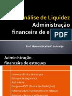 AULA 5 - Administração Financeira de Estoques