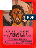 Jaeger Werner Cristianismo Primitivo y Paideia Griega