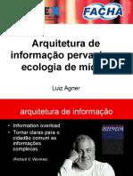 Arquitetura de Informação Pervasiva e Ecologia de Mídias - I Semana Acadêmica FACHA