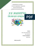 Trabajo Singular f.e Auditivo