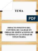 Impacto Positivo Del Control de Calidad en Obras de Edificaciones de Vivienda Bç