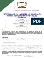 Metodo Dureza Agua